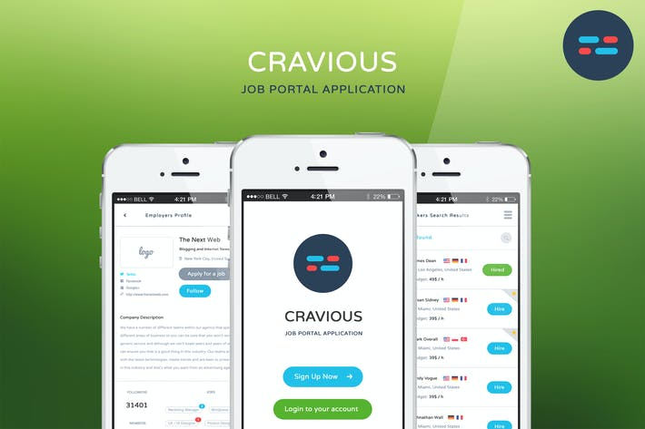 Thumbnail for Cravious - Job Portal Application
