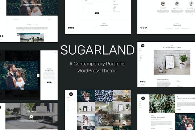 Sugarland – Contemporary Portfolio WP Theme
