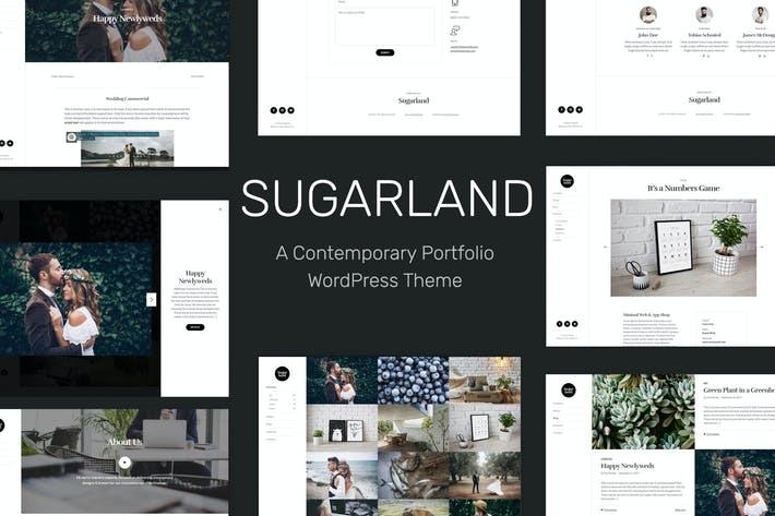 Thumbnail for Sugarland – Contemporary Portfolio WP Theme