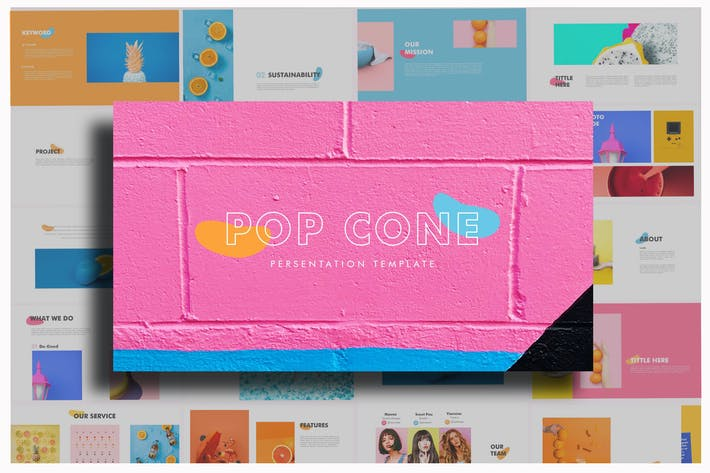 Thumbnail for Pop Cone - Powerpoint Template
