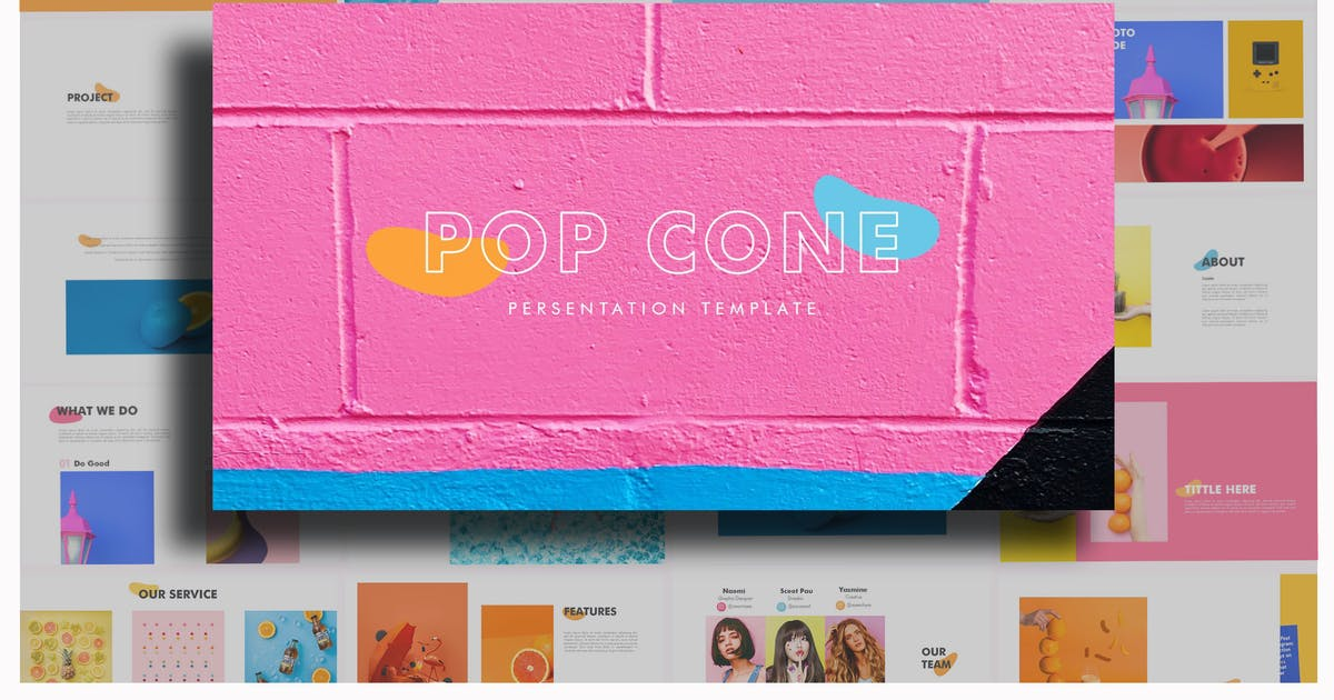 Download Pop Cone - Full Color Powerpoint Template by putra_khan