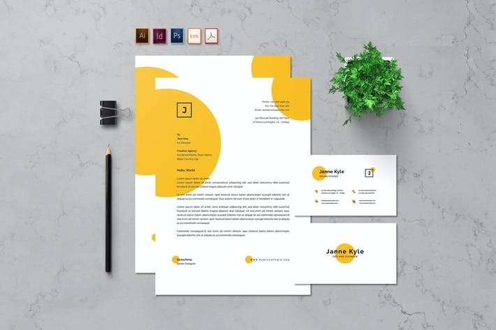 Thumbnail for Letterhead & Business card - Rantautemp