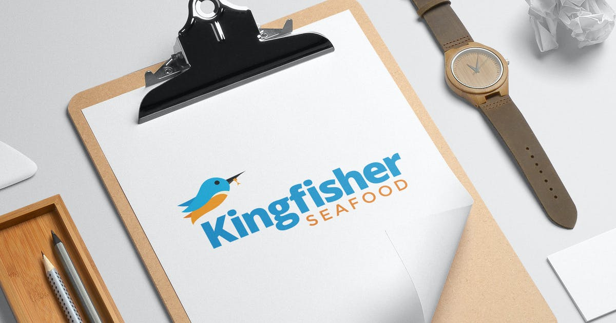 Download Kingfisher seafood logo template by milktoast