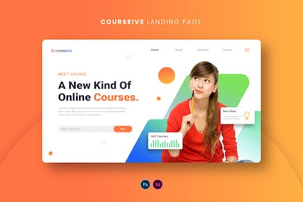 Courseive Landing Page
