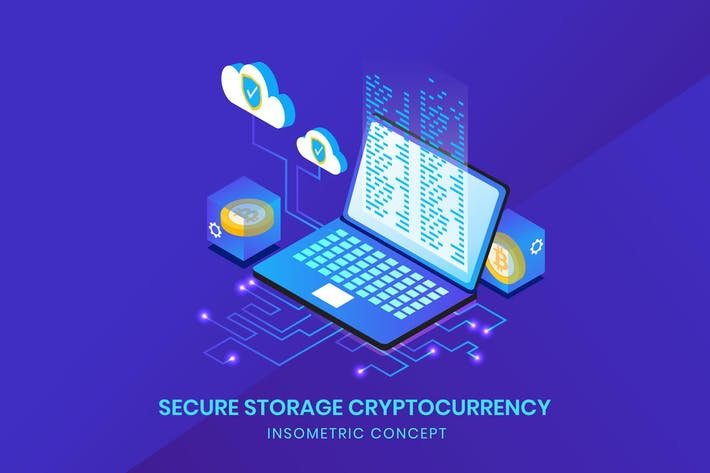 Thumbnail for Secure Storage Cryptocurrency - Insometric Vector