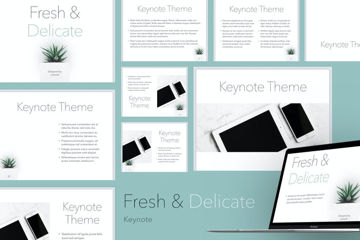 Thumbnail for Fresh & Delicate Keynote Template