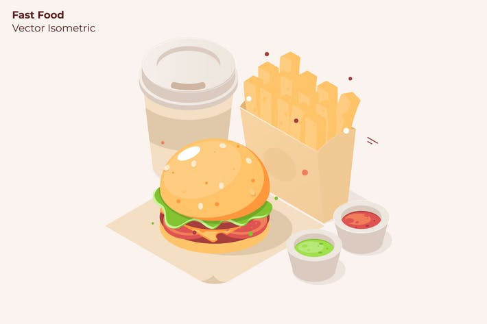 Thumbnail for Fast Food - Vector Illustration