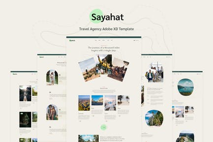 Sayahat - Travel Agency Adobe XD Template