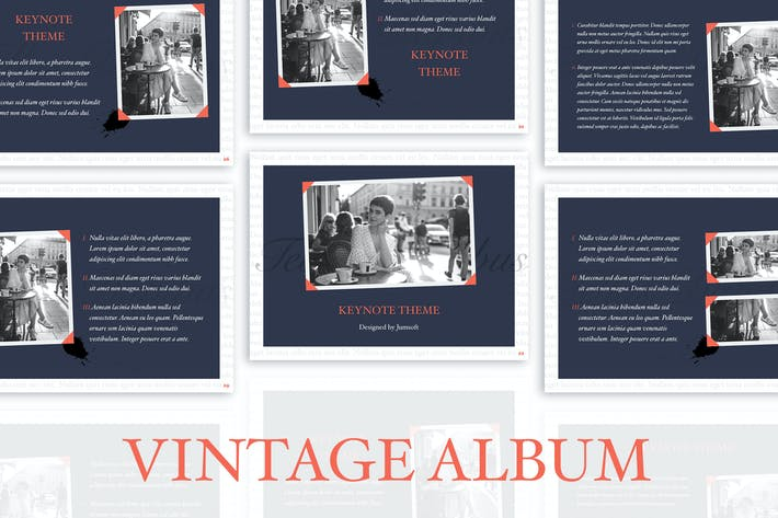 Thumbnail for Vintage Album Keynote Template