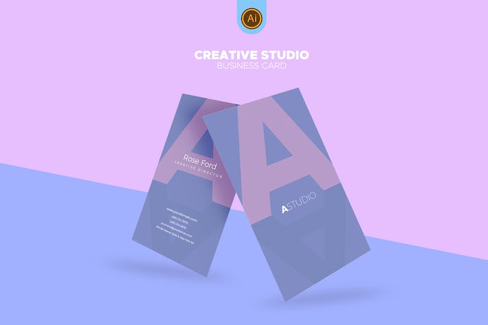 Thumbnail for Clean Creative Studio Business Card