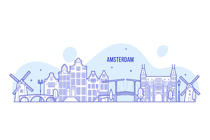 Thumbnail for Amsterdam skyline, Netherlands