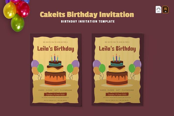 Thumbnail for Cakeist | Invitation d'anniversaire