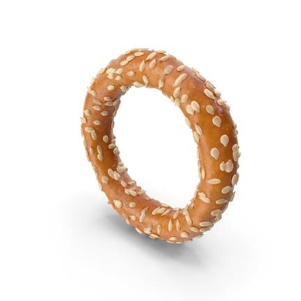 Mini Pretzel Ring With Sesame