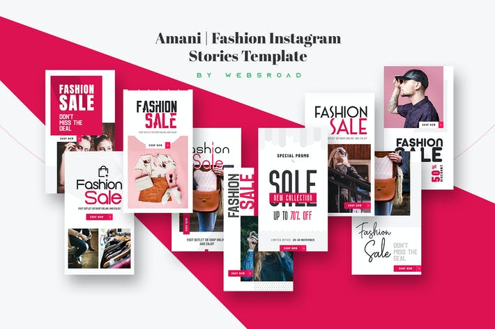 Thumbnail for Amani | Fashion Instagram Stories Template