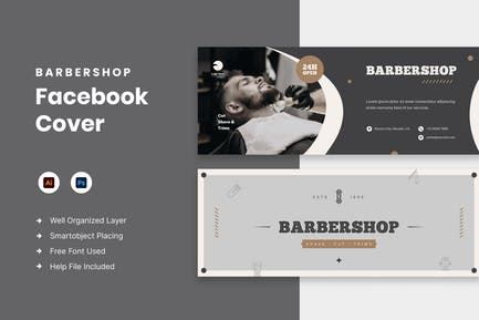 Barbershop Facebook Cover