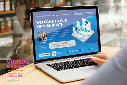 Virtual Booth Event Digital Poster Flyer