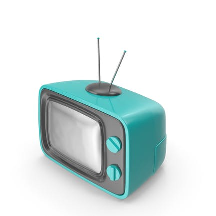 Televisión de Dibujos animados azul