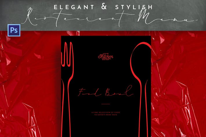 Thumbnail for Elegant Stylish Restaurant Menu