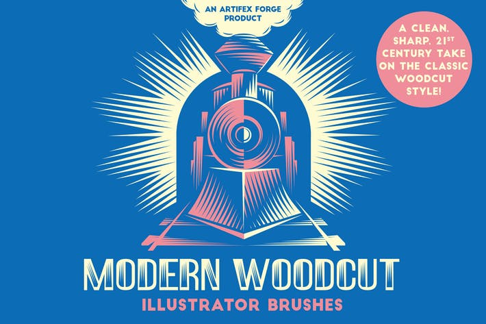 Thumbnail for Modern Woodcut Brushes