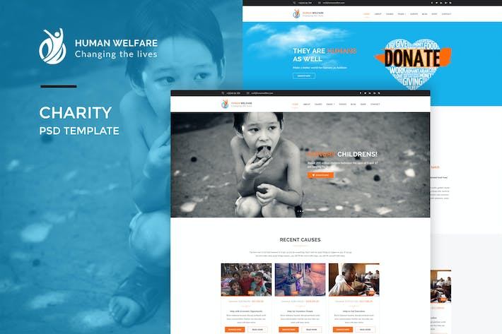 Thumbnail for Human Welfare : Charity Web Template