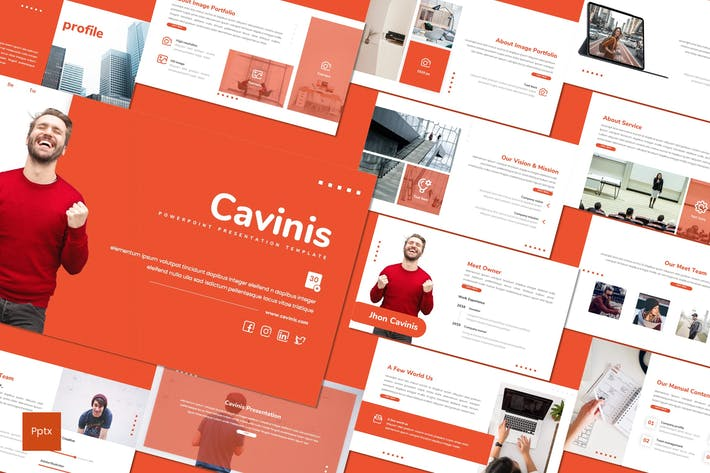 Thumbnail for Cavinis - Business Powerpoint Template