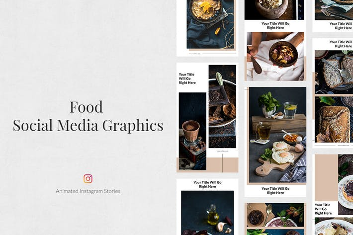 Thumbnail for Food Animated Instagram Stories