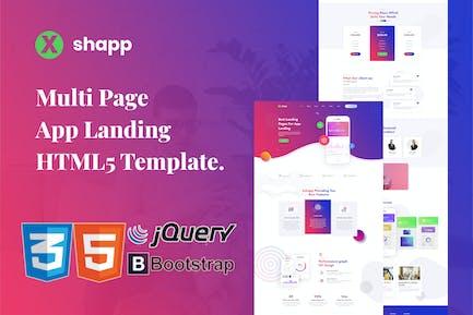 Xshapp - Mehrseitige App-Landing-HTML5-Vorlage