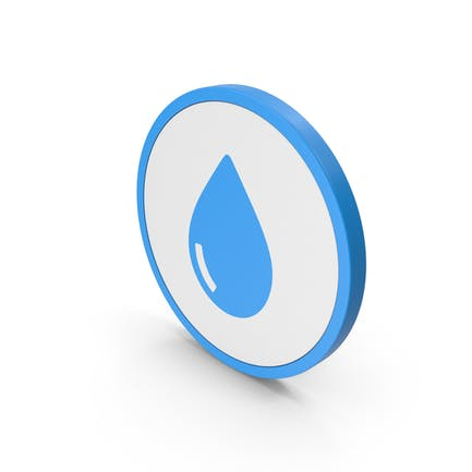 Icon Water Drop Blue