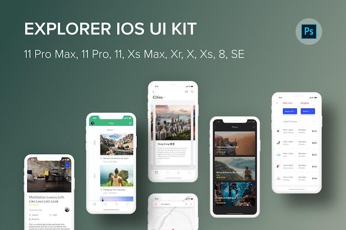 Thumbnail for Explorer iOS UI Kit (Photoshop)