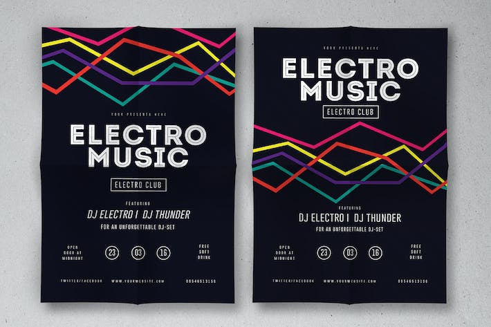 Thumbnail for Electro Musik Flyer & Poster