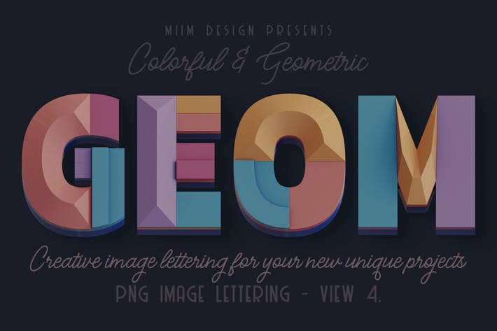 Thumbnail for Decorative Geometry - 3D Lettering - View 4