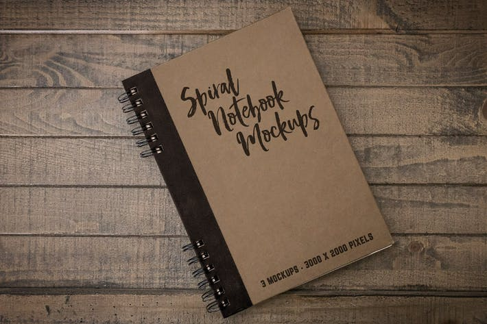 Thumbnail for Spiral Notebook Mockups Volume 1