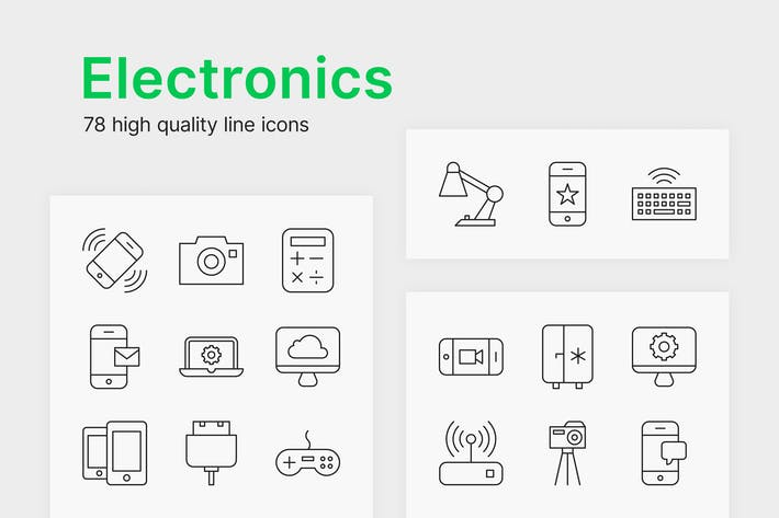 Thumbnail for Electronic Icons