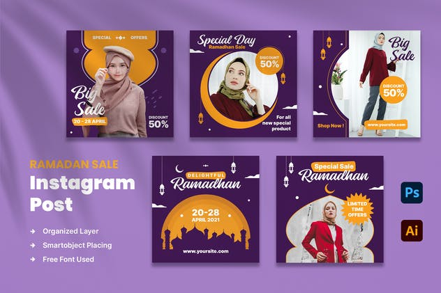 Ramadan Sale Instagram Post