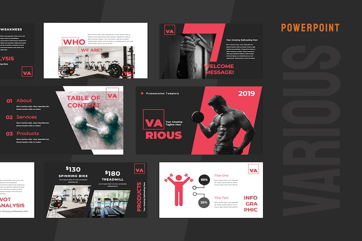 Thumbnail for Various Gym Powerpoint Presentation