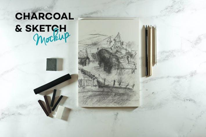 Thumbnail for Charcoal & Sketch Mockup