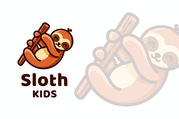 Thumbnail for Sloth Kids Cute Logo Template