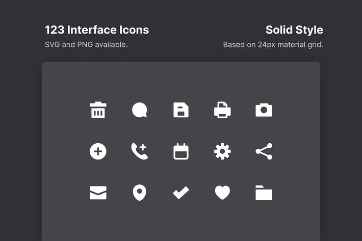 Thumbnail for Interface Icons - Solid Style