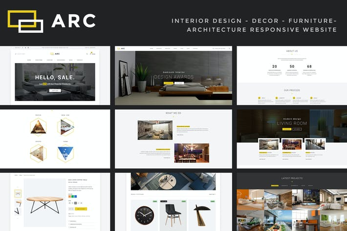 Thumbnail for ARC - Interior Design, Decor, Architecture Website