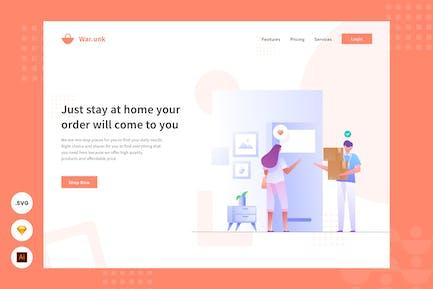 Cash on delivery - Website Header - Illustration