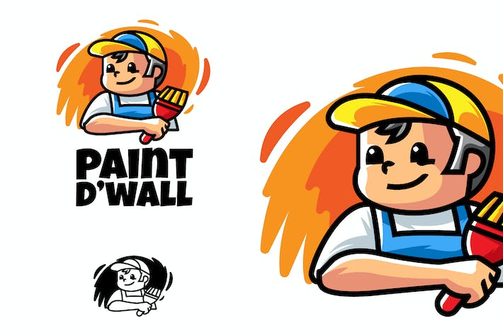 Thumbnail for Paint The Wall - Mascot & Esport Logo