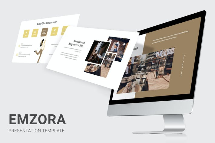 Thumbnail for Emzora - Restaurant Pitch Deck Powerpoint