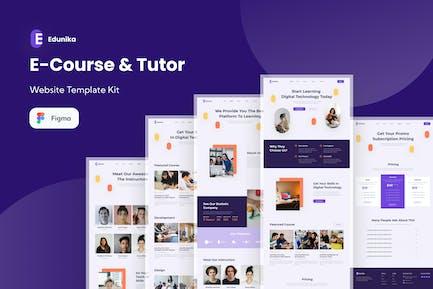 Edunika - Ecourse & Tutor Website Template