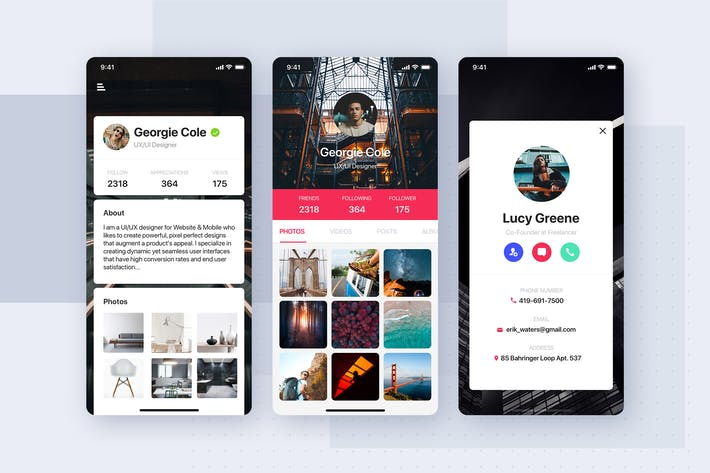 Thumbnail for User Profile Screen mobile template