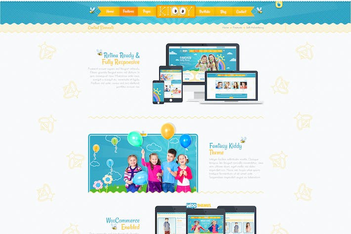 Cover Image For Kiddy PSD Template