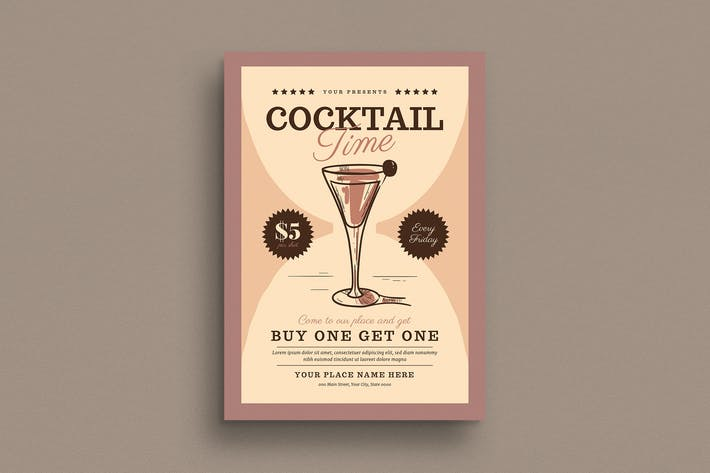 Thumbnail for Cocktail Time Flyer