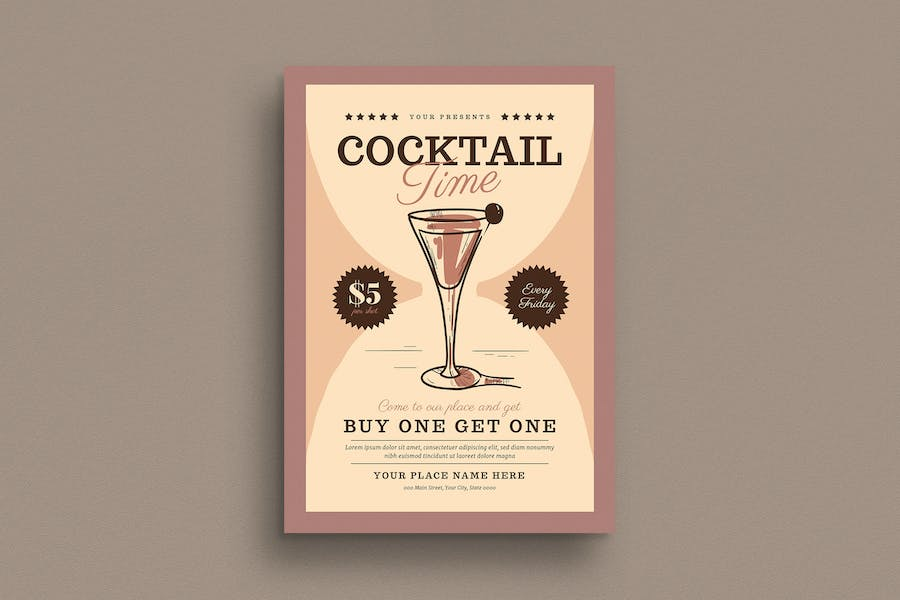 Cocktail Time Flyer