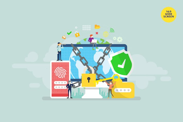 Thumbnail for Network Security Vector Illustration Concept