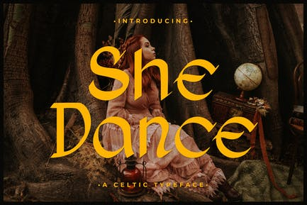 She Dance – Celtyic Typeface