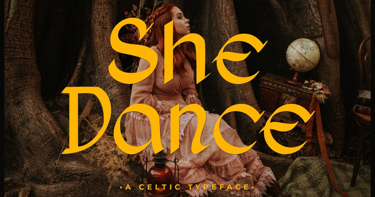 Download She Dance – Celtyic Typeface by typefactoryco